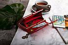 Жіночий шкіряний гаманець Betlewski з RFID 18,5 х 9,5 х 3,5 (BPD-VS-100) - червоний, фото 6