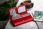 Жіночий шкіряний гаманець Betlewski з RFID 18,5 х 9,5 х 3,5 (BPD-VS-100) - червоний, фото 7