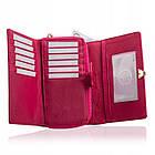 Жіночий шкіряний гаманець Betlewski з RFID 16 х 10 х 4 (BPD-VS-513) - рожевий, фото 2