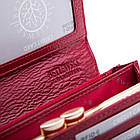 Жіночий шкіряний гаманець Betlewski з RFID 18,5 х 9,5 х 3,5 (BPD-CR-100) - червоний, фото 6