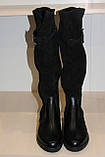 Сапоги кожаные женские черные 36-41 р от производителя, фото 4