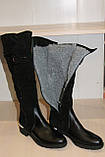 Сапоги кожаные женские черные 36-41 р от производителя, фото 7