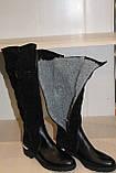 Сапоги кожаные женские черные 36-41 р от производителя, фото 8