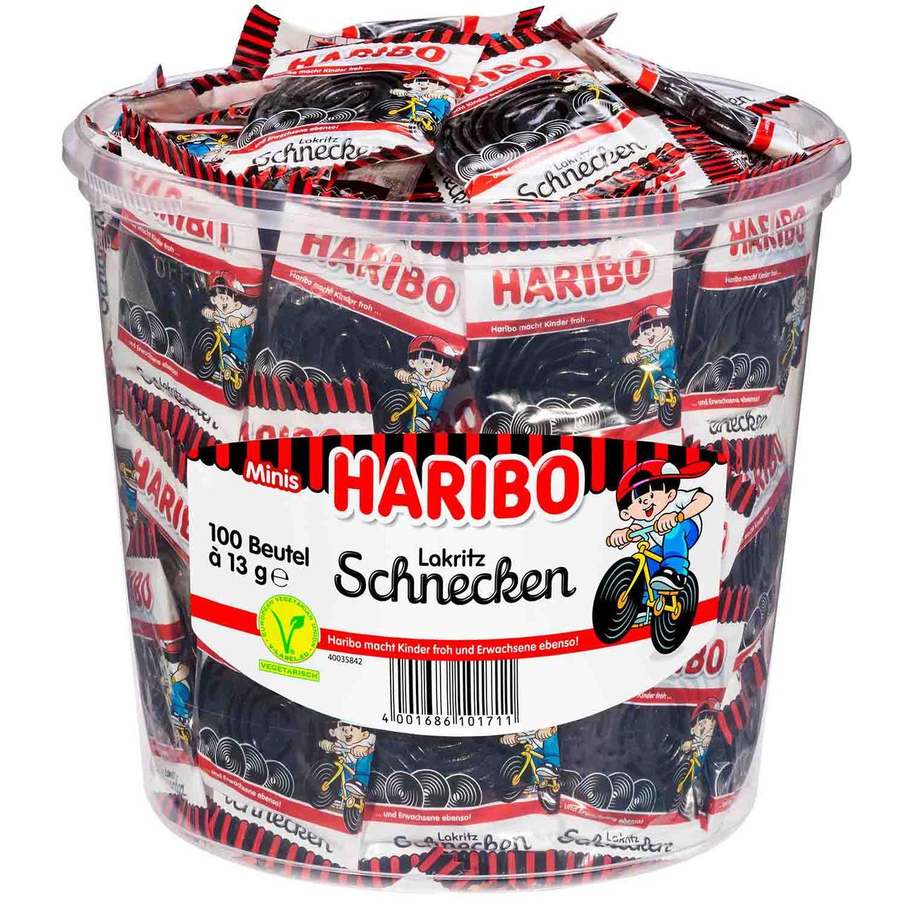 Желейные конфеты Haribo Lakritz Schnecken 100s 1000 g