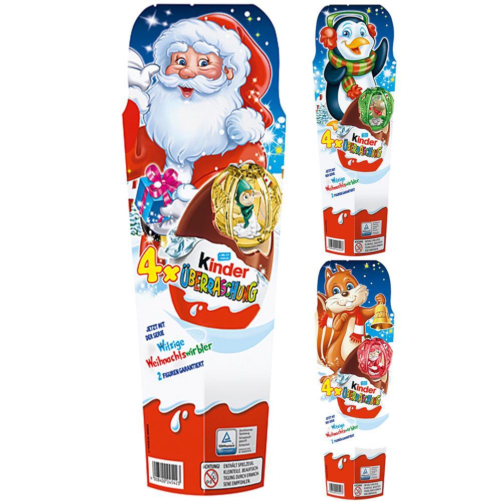 Шоколад Kinder Uberraschung New Year 4x