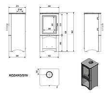 Сталева піч Koza K5 сталь (модель 2015 року), фото 2