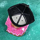 Кепка Бейсболка Женская Cayler Sons Пончик Укус The Munchies Черная с розовым козырьком, фото 2