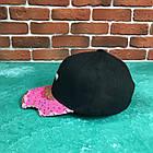 Кепка Бейсболка Женская Cayler Sons Пончик Укус The Munchies Черная с розовым козырьком, фото 4