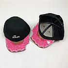 Кепка Бейсболка Женская Cayler Sons Пончик Укус The Munchies Черная с розовым козырьком, фото 5