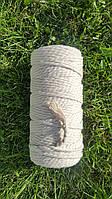 Шнур хлопковый крученный Макраме 4мм №3 Натуральный