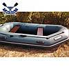 Надувний човен Барк В-НП гребний човен ПВХ Bark B-270NP двомісна рейковий настил транец брызгоотбойник, фото 3