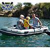 Надувная лодка Барк В-270НПД гребная лодка ПВХ Bark B-270NPD двухместная реечный настил транец привальник, фото 5