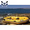 Надувная лодка Барк В-300НП гребная лодка ПВХ Bark B-300NP трехместная реечный настил транец привальник, фото 2