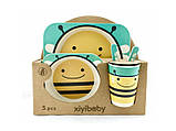 Набор детской посуды из бамбука «Пчела» (5 предметов), фото 2