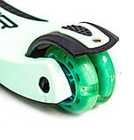 Самокат-трансформер Scale Sports. Бирюзовый цвет., фото 4