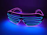 Неоновые очки светодиодные розовый синий, фото 2