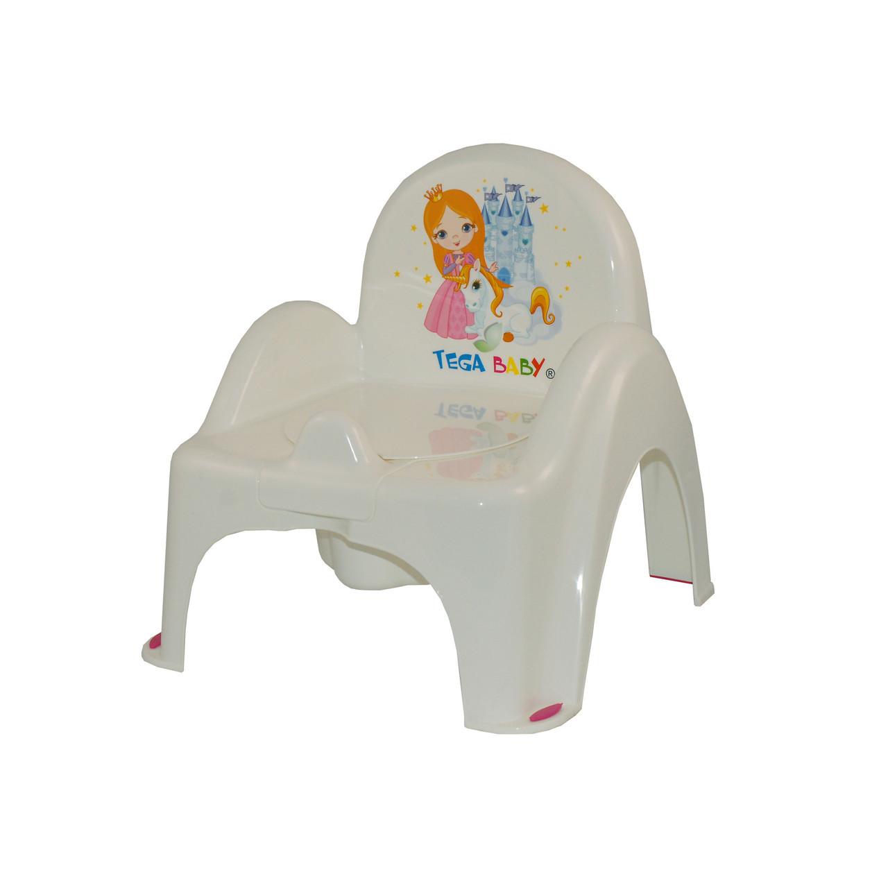 Горшок-стульчик музыкальный Tega Little Princess Белый