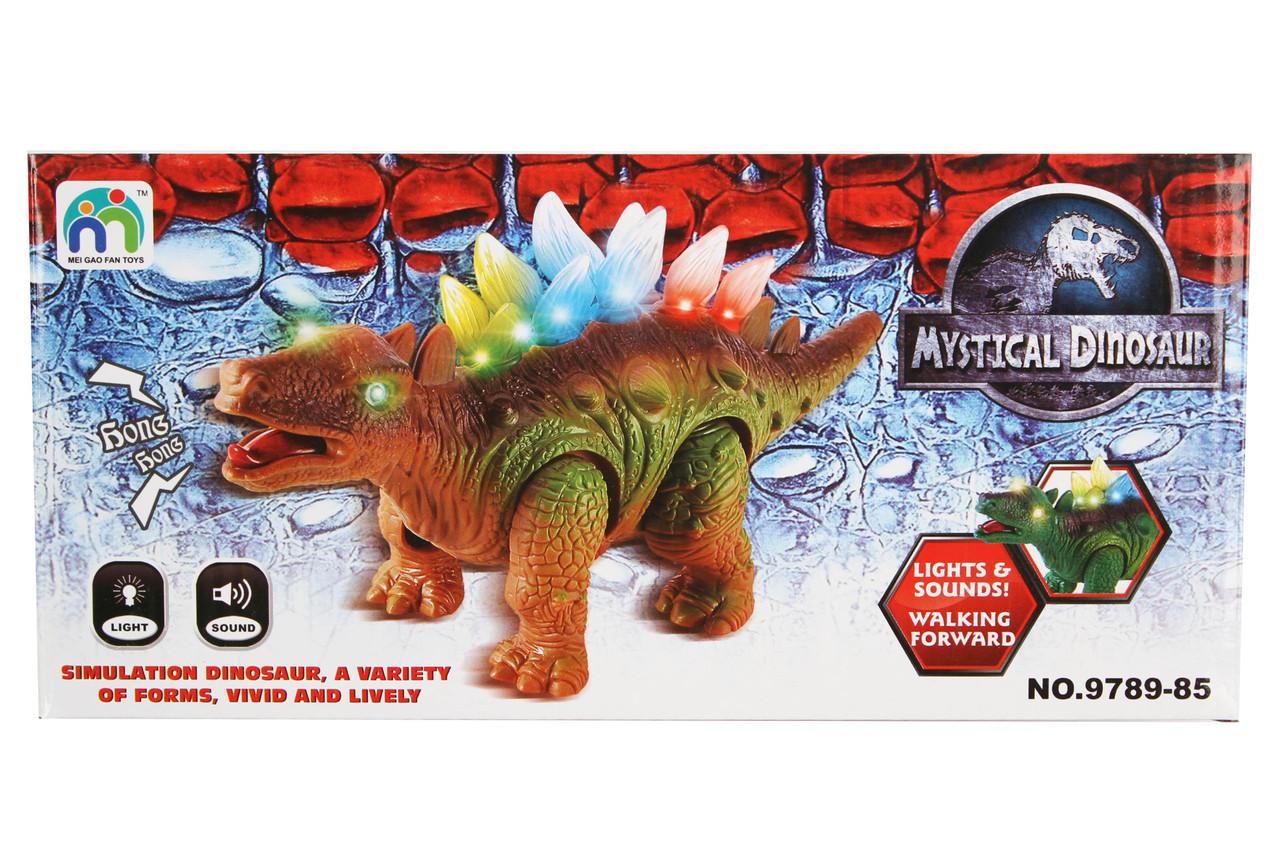 Динозавр светяйщийся на батарейках в коробке 9789-85