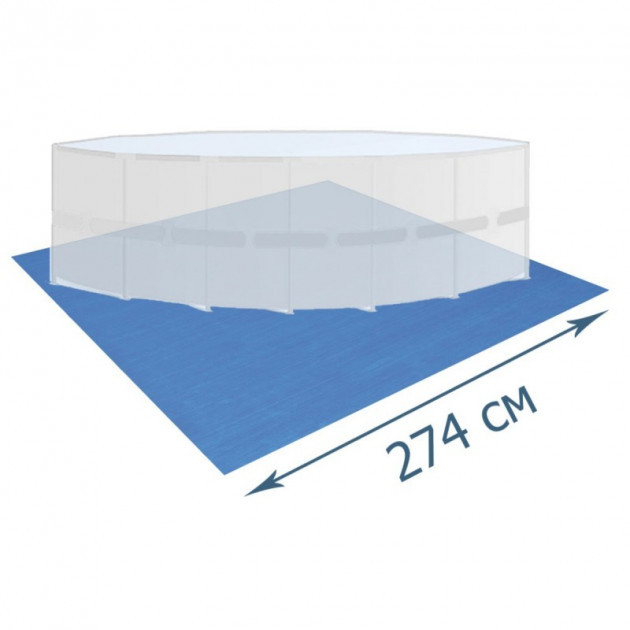 Подстилка для бассейнов Bestway 58000 тарпаулин (274х274) см синяя
