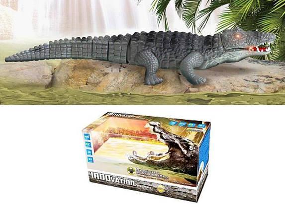 """Интерактивная игрушка """"Крокодил"""" музыка + свет (на батарейках) 9985, фото 2"""