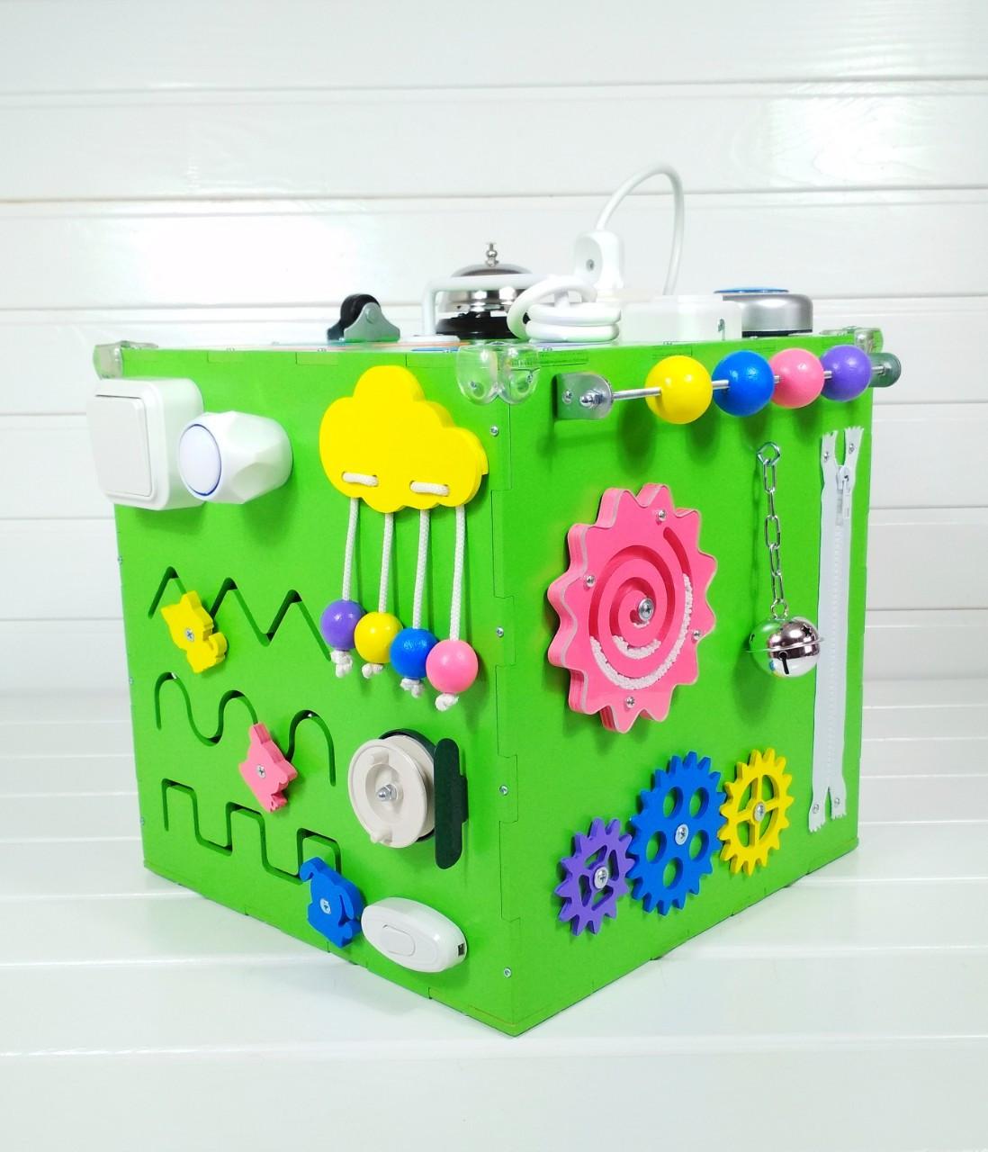 Развивающая игрушка бизикуб Busy Cube Tornado Зеленая
