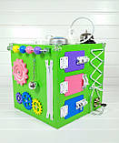 Развивающая игрушка бизикуб Busy Cube Tornado Зеленая, фото 3