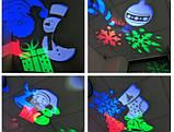 Новогодний Лазер чёрный,4 режима, 4 рисунка, фото 2