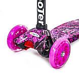 Детский самокат MAXI Pink Forest. Светящиеся колеса!, фото 2