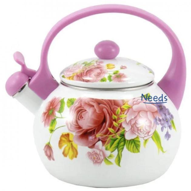 Чайник эмалированный Zauberg Розы 2л для плиты (7/LG)