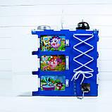 Развивающая игрушка бизикуб  Busy Cube Tornado Бело-синяя, фото 2