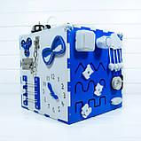Развивающая игрушка бизикуб  Busy Cube Tornado Бело-синяя, фото 3
