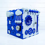 Развивающая игрушка бизикуб  Busy Cube Tornado Бело-синяя, фото 5