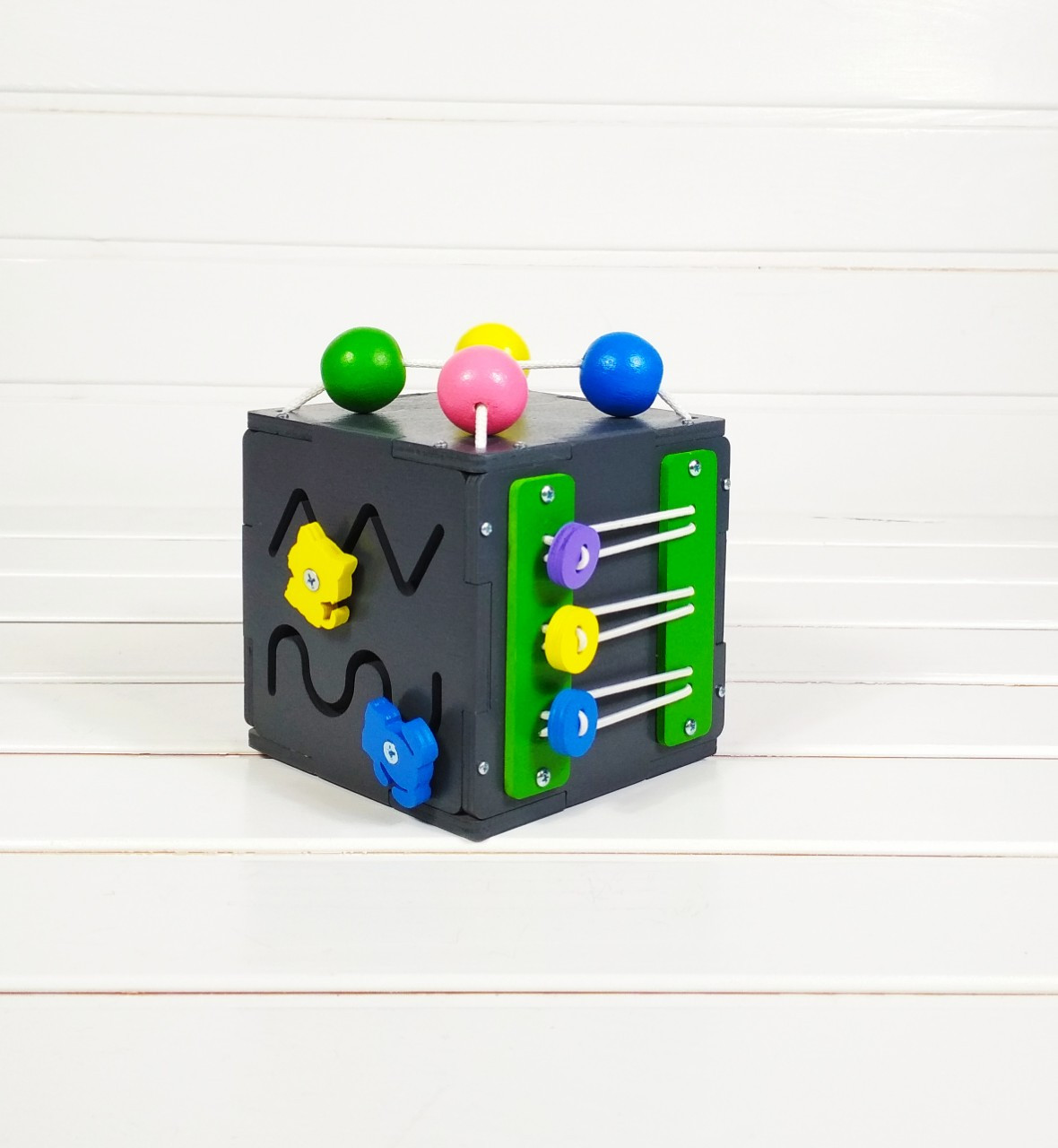 Развивающая игрушка Мини бизикуб Mini Busy Cube Tornado Черная