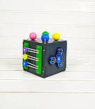 Развивающая игрушка Мини бизикуб Mini Busy Cube Tornado Черная, фото 2