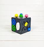 Развивающая игрушка Мини бизикуб Mini Busy Cube Tornado Черная, фото 4