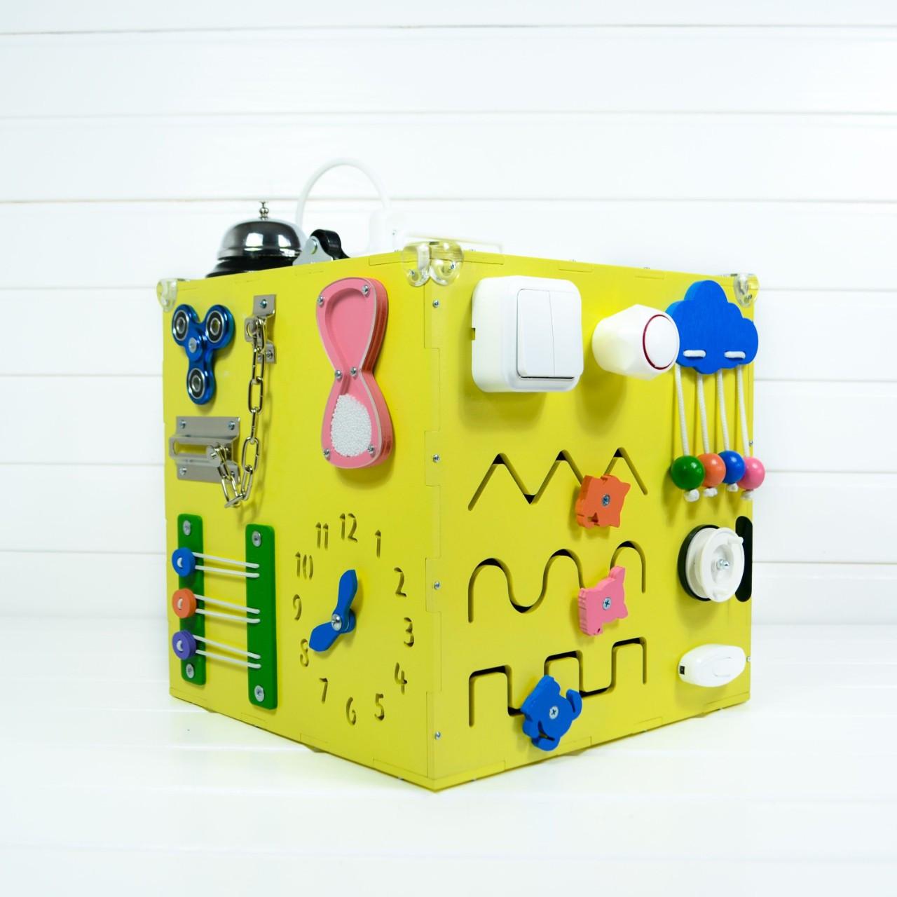 Развивающая игрушка бизикуб Busy Cube Tornado Желтая