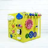 Развивающая игрушка бизикуб Busy Cube Tornado Желтая, фото 4