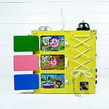Развивающая игрушка бизикуб Busy Cube Tornado Желтая, фото 5