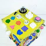 Развивающая игрушка бизикуб Busy Cube Tornado Желтая, фото 6