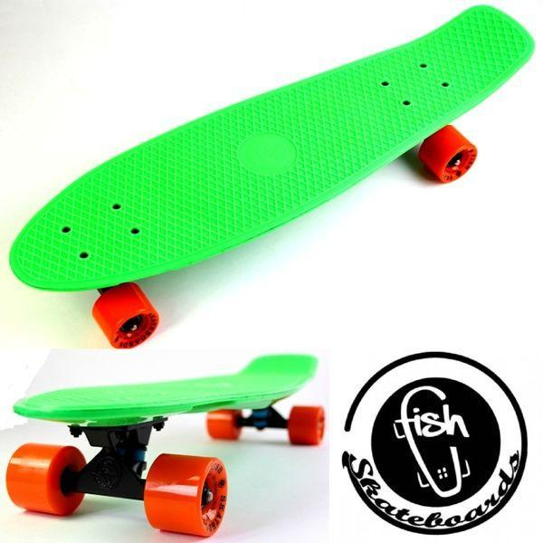 "Пенни борд, Penny Board Original Nickel ""Fish"" Green."