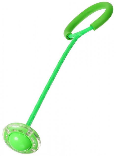 Светящаяся скакалка крутилка с колесиком на одну ногу | Нейроскакалка зеленая, с доставкой
