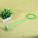 Светящаяся скакалка крутилка с колесиком на одну ногу | Нейроскакалка зеленая, с доставкой, фото 4