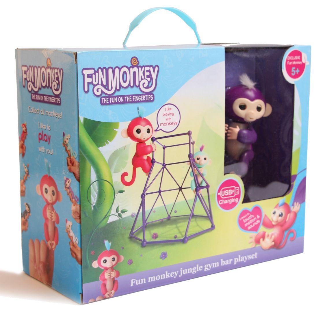 """Интерактивная игрушка """"Fingerlings Jungle Gym PlaySet + интерактивная обезьянка"""