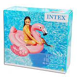 Надувной плотик Intex 57558 Фламинго (142x137x97 см), фото 2