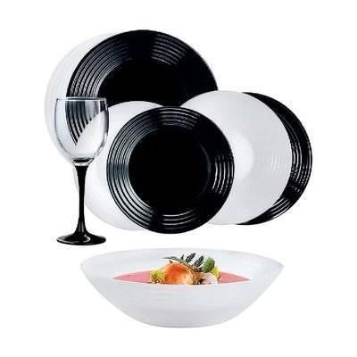 Сервиз Luminarc Harena Black&White из 24 предметов (N2243)