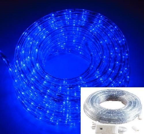 Дюралайт светодиодный Led гирлянда 10 м синий с переходником