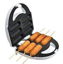 Аппарат для приготовления хот-догов и сосисок на палочке DOMOTEC тостер MS 0880 HOT DOG MAKER