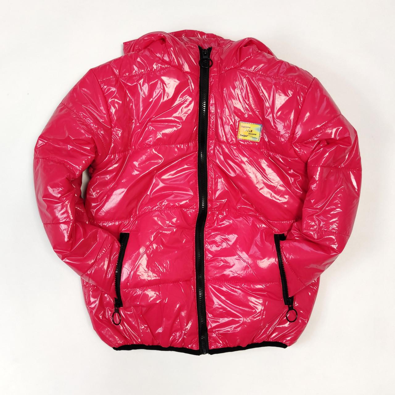 Детская демисезонная куртка для девочки малиновая 5-6 лет