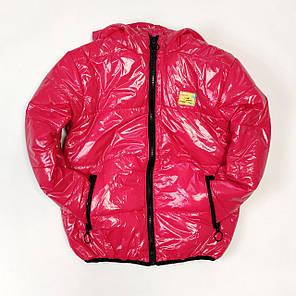Детская демисезонная куртка для девочки малиновая 5-6 лет, фото 2