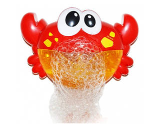Игрушка краб BUBBLE Toys для купания пускающая пену пузыри красный